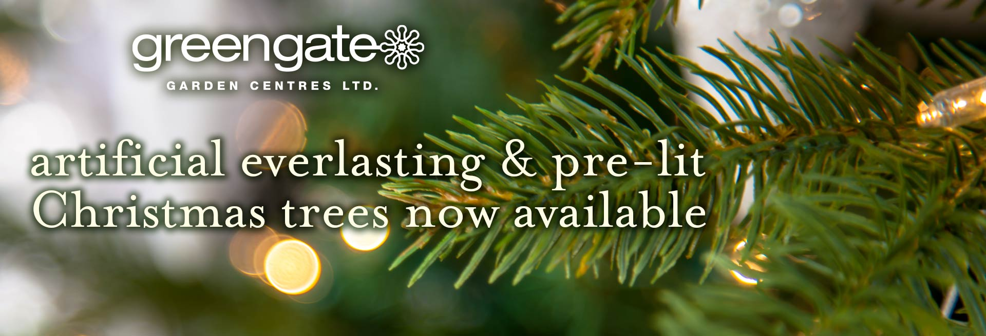 Artificial Christmas trees at greengate