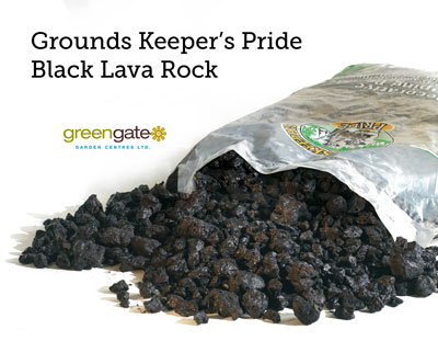 Black Lava Bagged Landscaping Rock