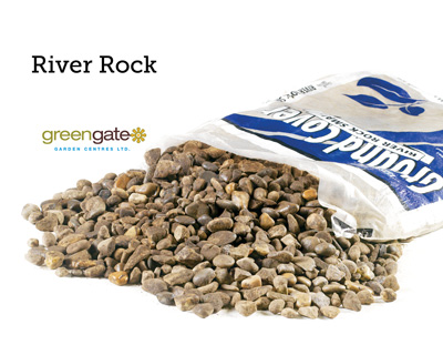 River Rock Bagged Landscaping Rock