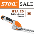 STIHL HSA 25 - battery shrub sheers