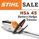 STIHL HSA 45 - battery hedge trimmer