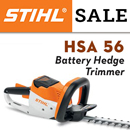STIHL HSA 56 - battery hedge trimmer